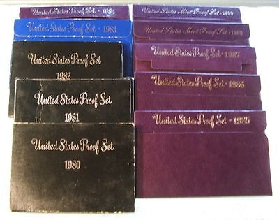Click now to see the BUY IT NOW Price! 1980 1989 S  US MINT PROOF  SETS  10 SET LOT  ORIG GOV PKG