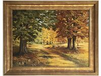 Autumn Woods, Norfolk (1994) by Olive Coker (Original Oil Painting)