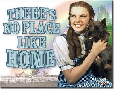 - Wizard Of Oz No Place Like Home TIN SIGN Dorothy Toto Wall Poster Decor