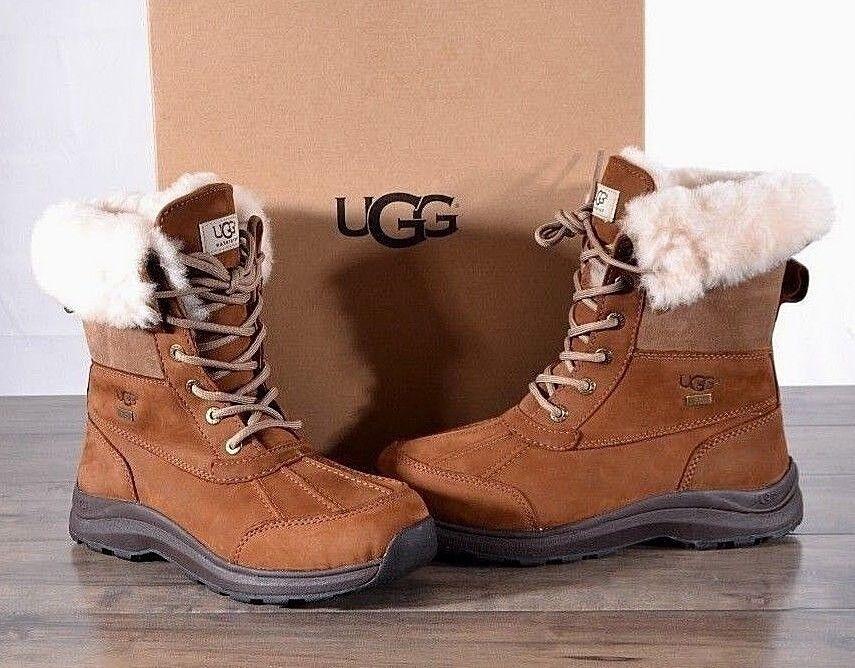 UGG Australia Women's Adirondack III Winter Boots Chestnut 6 MED 1017430 NEW