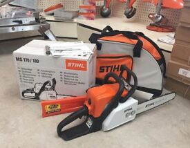New STIHL MS 170 Petrol Chainsaw with Carry Case