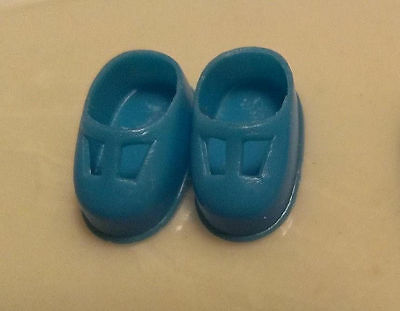 Vintage Mattel Liddle Kiddle Little Doll Blue t-strap Shoes