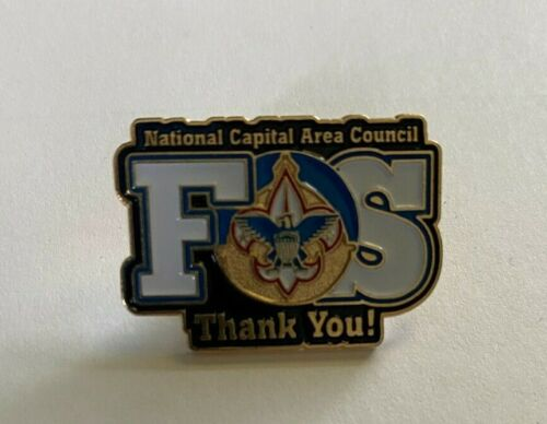 National Capital Area Council FOS Thank You Pin BSA