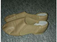 Leather bloch split sole jazz shoes size 3