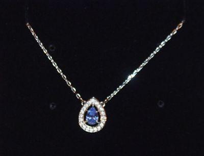 Swarovski Crystal Jewelry Attract Light Blue Necklace In Box 5197465