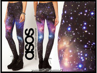 ASOS Brand New Leggings in Photographic Galaxy Print size 10 RRP £25