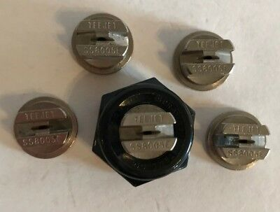 Teejet Ss 8005 E Flat Spray Tip Stainless Steel Lot Of 5 With Free Caps