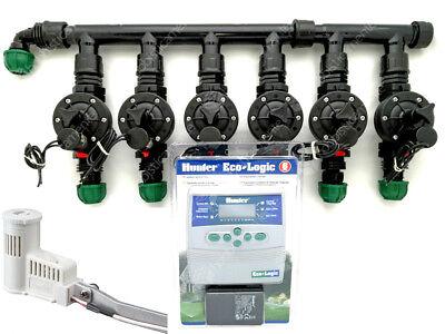 Kit Irrigation Sensor Rain Rain Programmer Hunter 6 Zone Solenoid Valve