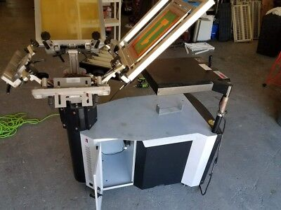 Silk Screen Printing Machine - 4 Color 1 Stationexposure Modulecuring Module