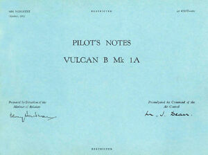 PILOTS-NOTES-AVRO-VULCAN-B-Mk-1A-R-A-F-NUCLEAR-V-BOMBER-209-pages