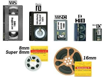 Video band VHS Hi8 8mm Super8 Dia's overzetten naar/op DVD