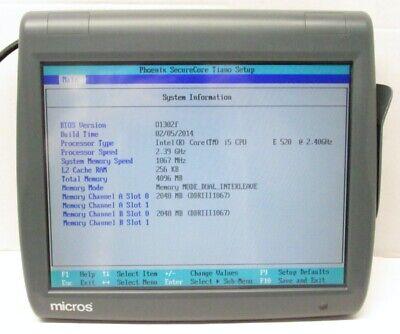 Micros Workstation Pcws2015 Pos System I5-e520 2.40ghz 4gb 423695-310e No Hdd