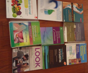 Dental hygiene books!,  lightly used, most recent edition.
