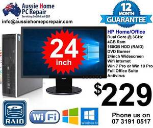 24' WIDESCREEN LCD, FULL PACKAGE, WIFI, WIN 7 OR 10, OFFICE SUITE Bethania Logan Area Preview