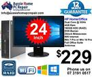 24' WIDESCREEN LCD, FULL PACKAGE, WIFI, WIN 7 OR 10, OFFICE SUITE