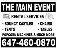 The Main Event: Bouncy Castle, Popcorn & Cotton Candy Machines
