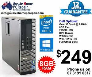 i5 QUAD CORE. SMALL FORM PCS, 8GB RAM OFFICE SUITE. WIN 7 OR 10 Bethania Logan Area Preview