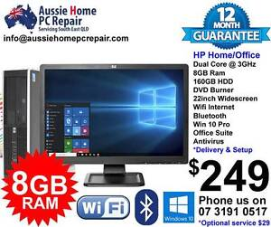 """HUGE 22"""" LCD, 8GB RAM, WIFI, B/TOOTH, OFFICE, A/VIRUS, WIN 10. Bethania Logan Area Preview"""