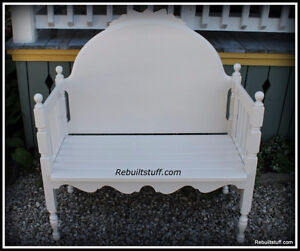 Shabby Chic Bench-Repurposed  From Bed
