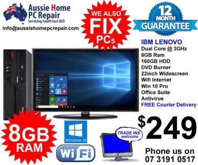 "HUGE 22"" LCD, 8GB RAM, WIFI, FULL OFFICE SUITE, A/VIRUS, WIN 10."