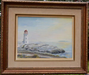 Peggy's Cove, Oil Painting by Nellie Veinote