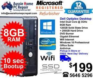 BUDGET DESKTOP PC. SUPER FAST SSD DRIVE. WINDOWS 10 PROFESSIONAL