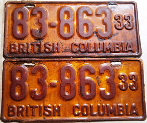 == Classic Car? Vintage Collector License Plates == 1920's up