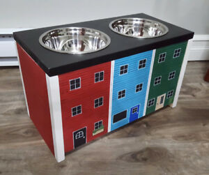 Jellybean Row Dog Food Stand