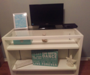 Beautiful White Credenza with 6 Shelves