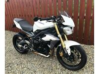 TRIUMPH STREET TRIPLE 675 ABS - IMMACULATE FSH EXAMPLE + FITTED EXTRAS - PX