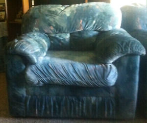 Sofa bed and 2 arm chairs