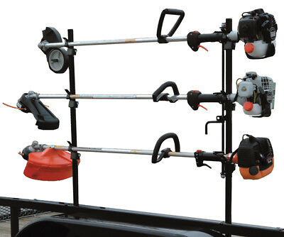 Landscape Trailer Lockable Trimmer Rack