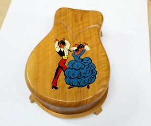 "Musical Jewelry Box  Flamenco Dancers Plays ""Love Story"" Unique"
