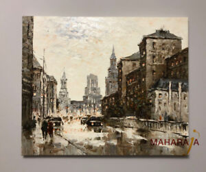 Beautiful Painting on Canvas ( City Scape)