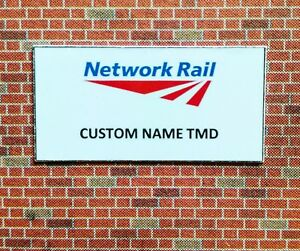 00 gauge x 10 Network Rail Depot Signs with your depot name, OO gauge