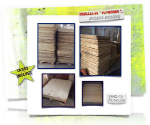 ~~> (#21-441) PLYWOODS» (Coins-Ronds) > (2x)Dimensions - 3.99$