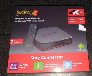 4K Jadoo 5 IPTV Android TV Box - No monthly fee
