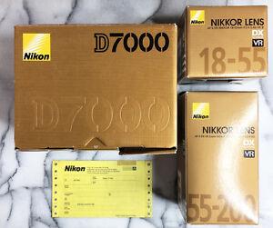 BRAND NEW - Nikon D7000 DSLR + Lenses + Accessories