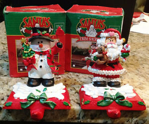 Santa & Snowman Stocking Holders
