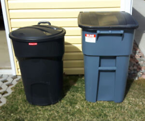 Rubbermaid Trash Bins ( 2 separate units)