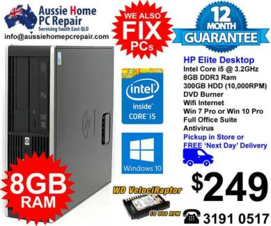HP ELITE I5, 8GB RAM, S / FAST . WIFI & B/TOOTH, WIN 10 PRO