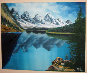 "Lake Louise- original oil painting 16"" x 20"""