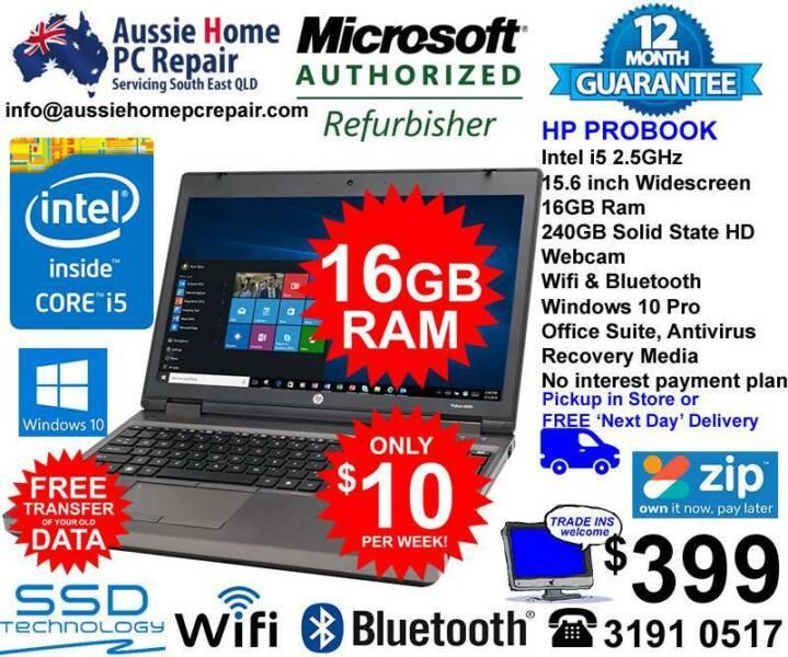 HP PROBOOK AMAZING 16GB RAM, SUPER FAST SSD DRIVE  10 PRO  | Laptops