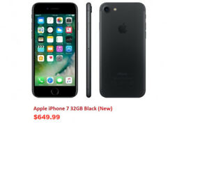 SELLING BRAND NEW APPLE IPHONE 7 32GB BLACK UNLOCKED SEALED