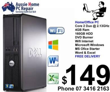 Dell, Win  7 or Win 10, Word & Excel, Antivirus, 3 Mth Warranty Loganlea Logan Area Preview