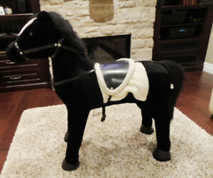 Gorgeous Black and White Childs Horse - They can sit on it
