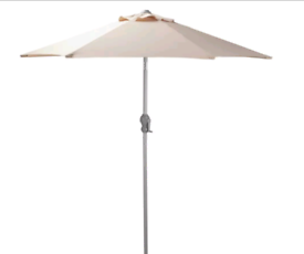 Cream or black parasol umbrellas £15. £20. Real Bargains Clearance Out