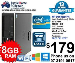 HUGE 8GB RAM, WIN 7 OR 10 PRO, OFFICE SUITE, ANTIVIRUS. Bethania Logan Area Preview