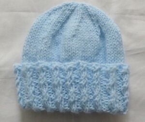 Hand Knit Preemie Baby Toque