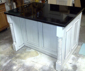 Brand new Kitchen Island with solid maple raised doors